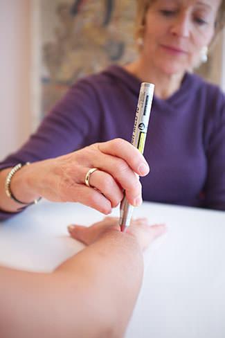 Laserakupunktur_Anwendung
